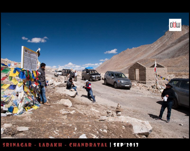 On top of Wari La Pass