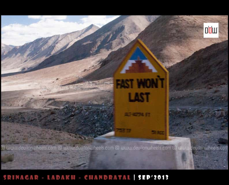 Road Sign in Ladakh