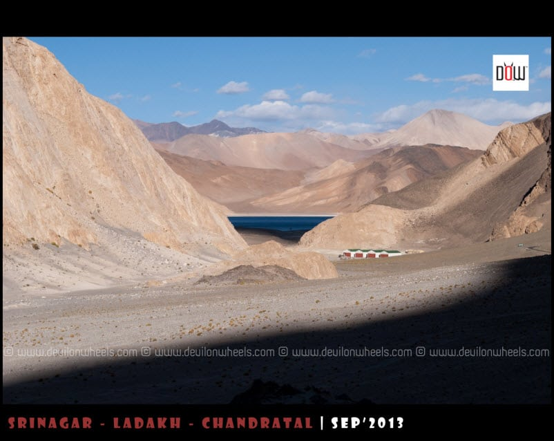 First Views of Pangong Tso Lake