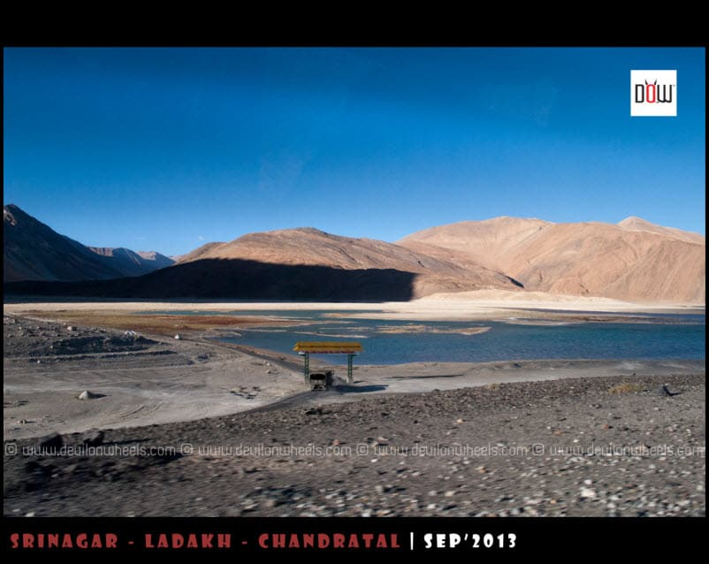 Pangong Tso Begins, This road goes to Marsimik La Pass