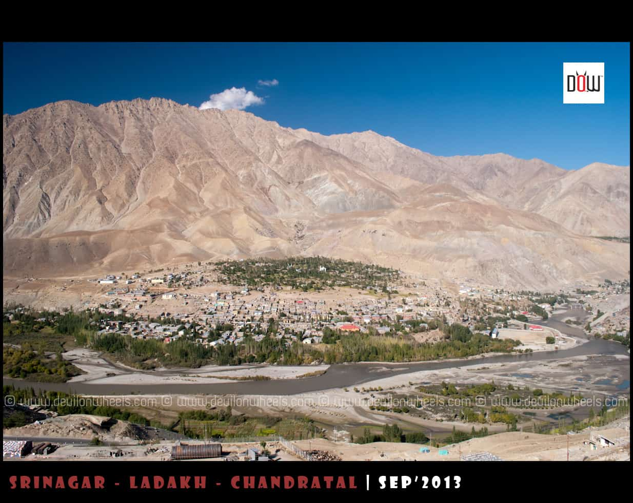 Kargil Town as seen from Srinagar - Leh Highway