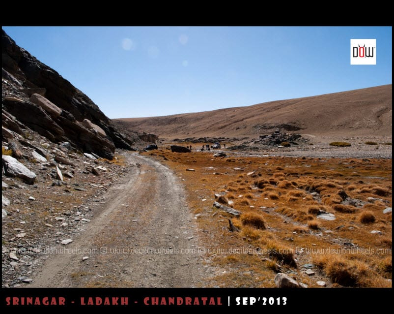 The Road Behind Towards Hanle from Kyon Tso