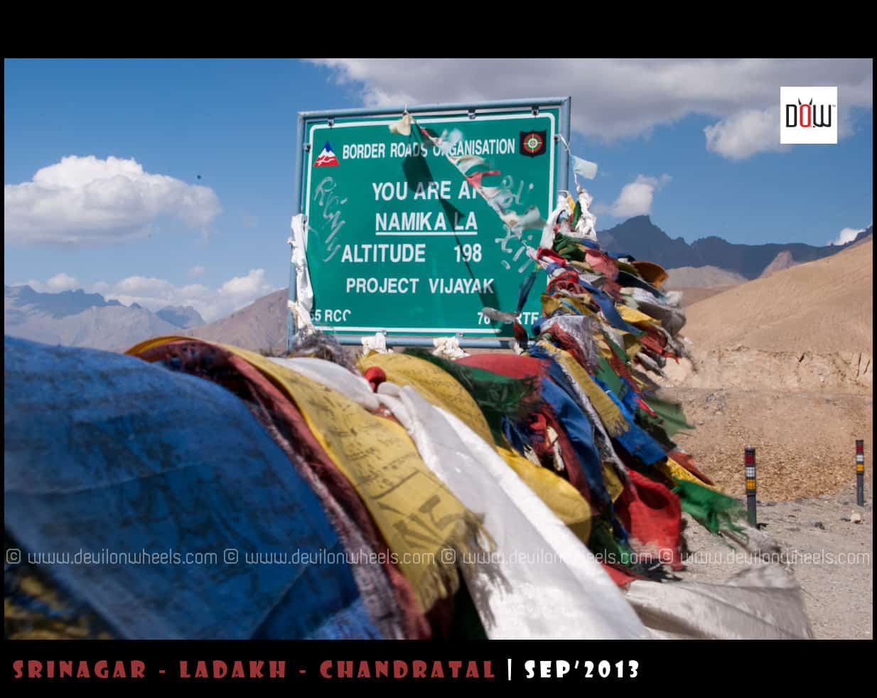 Namki La Pass on Srinagar - Leh Highway