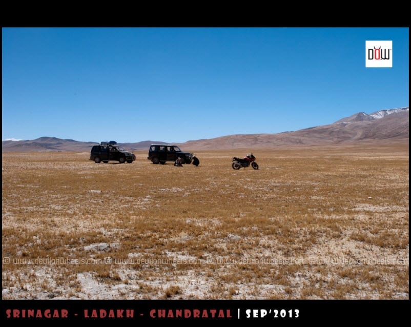 That's Our Rides resting at Kyon Tso 2 or Chiling Tso
