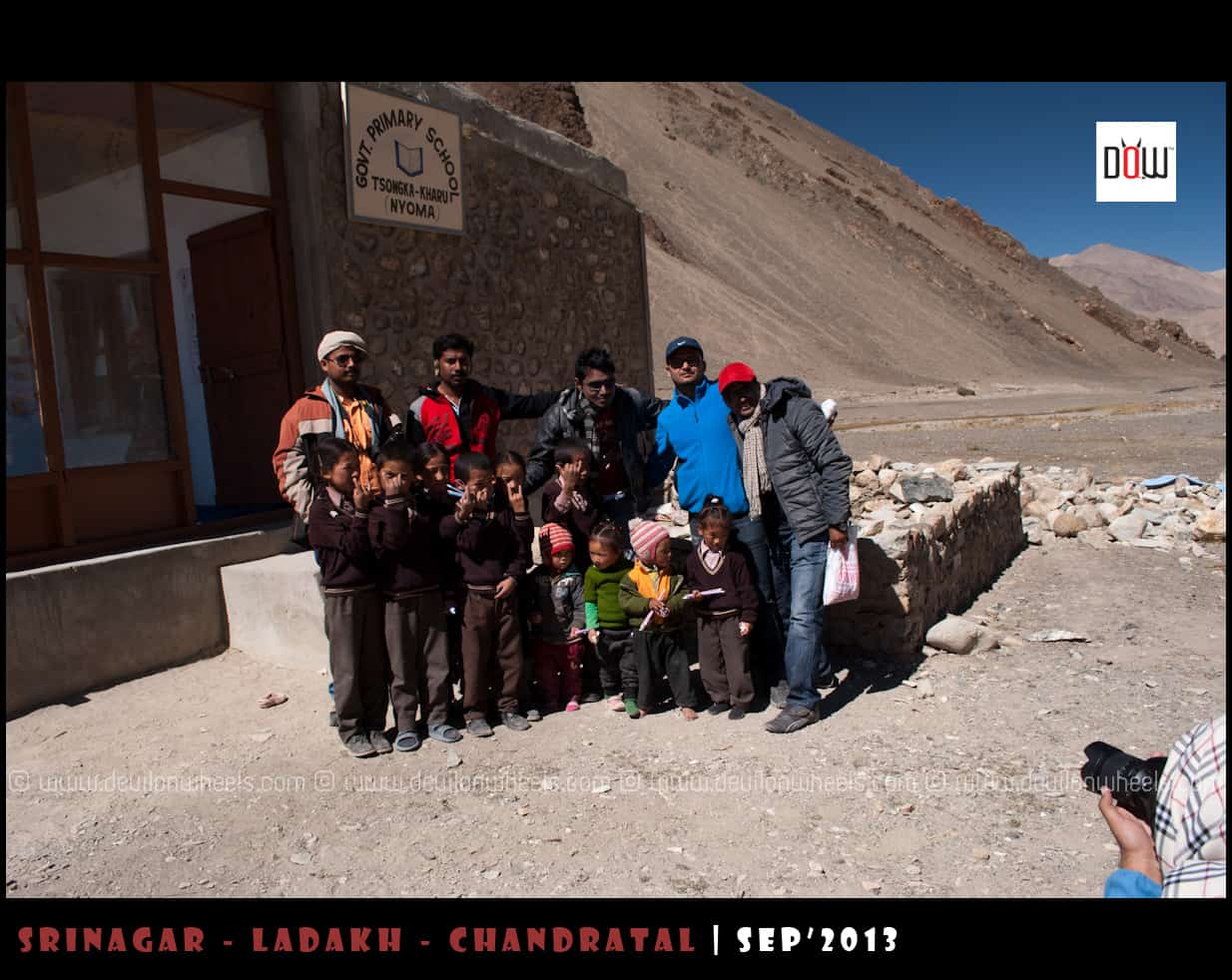 Devils Spreading Smiles at Nidar, Nyoma in Ladakh