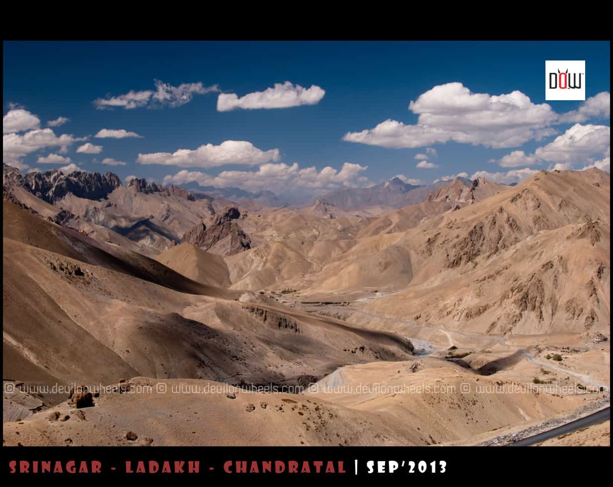 The Layers of Barren yet Beautiful Landscape on Srinagar - Leh Highway