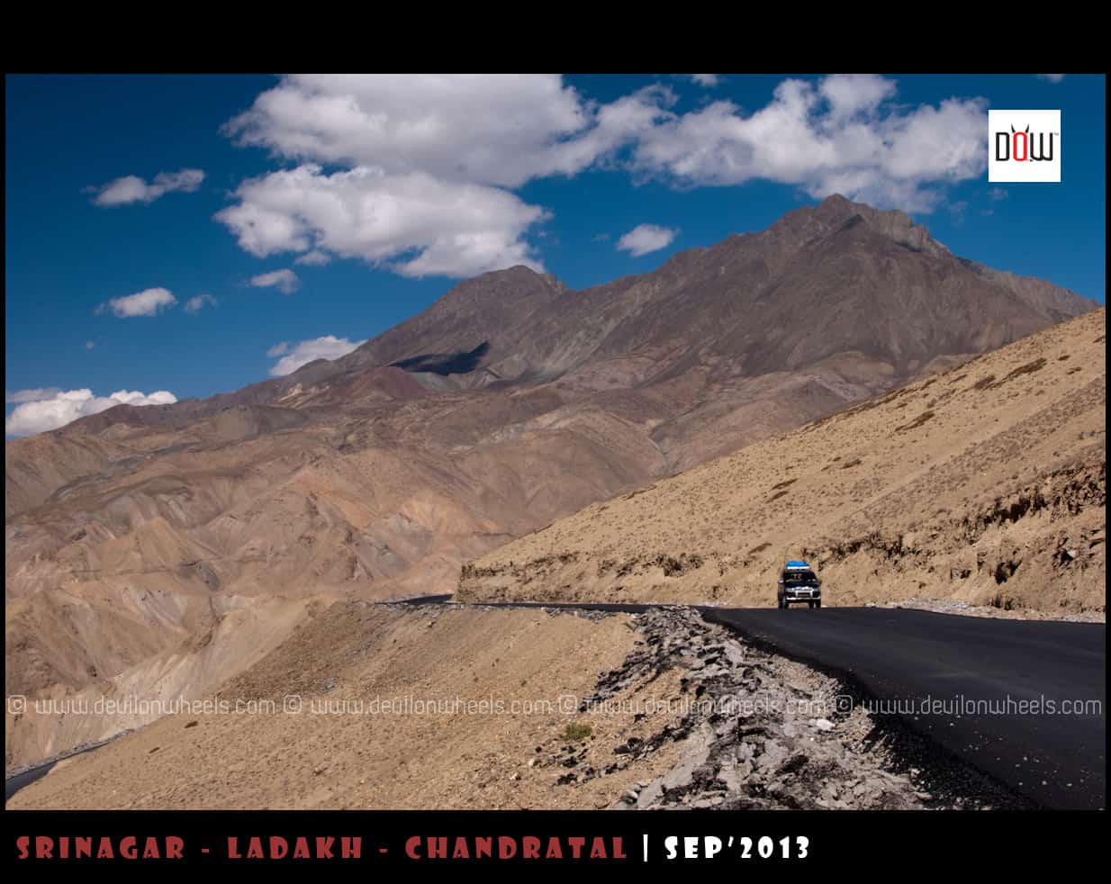 Metaled road on Srinagar - Leh Highway