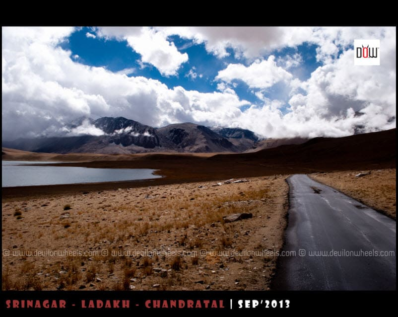 Shining Road besides Kiagar Tso