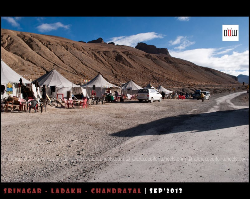 Dhabhas at Pang on Manali - Leh Highway
