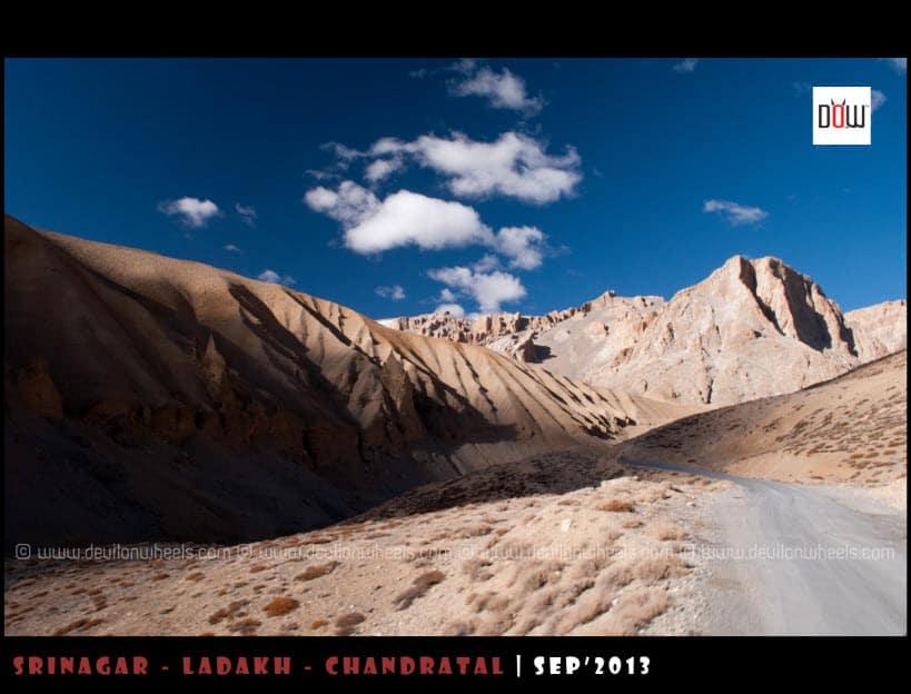 The Majestic Views on Manali - Leh Highway between Pang and Kangla Jal