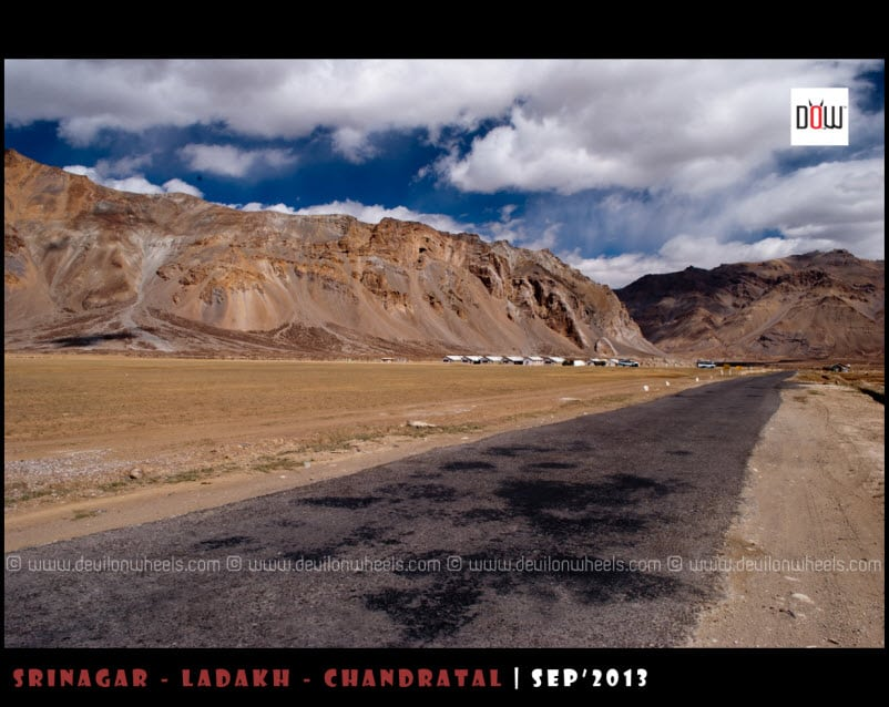 The Road towards Ladakh at Sarchu