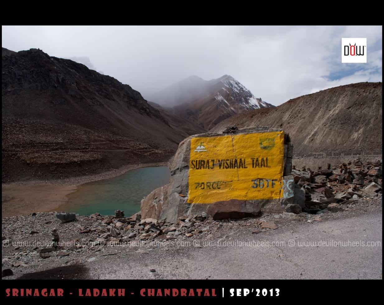 Suraj Tal / Vishal Tal Lake