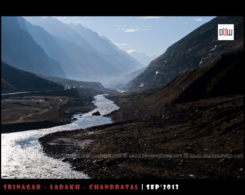 Early morning views of valley towards Chandratal