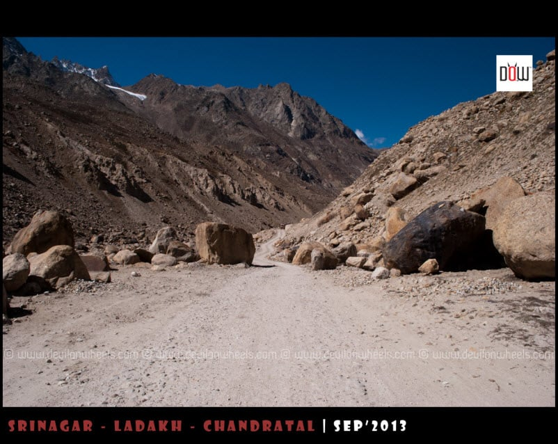 Roads on the way to Chandratal