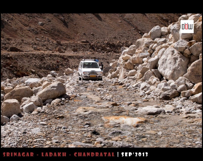 More fun at road to Spiti Valley from Manali