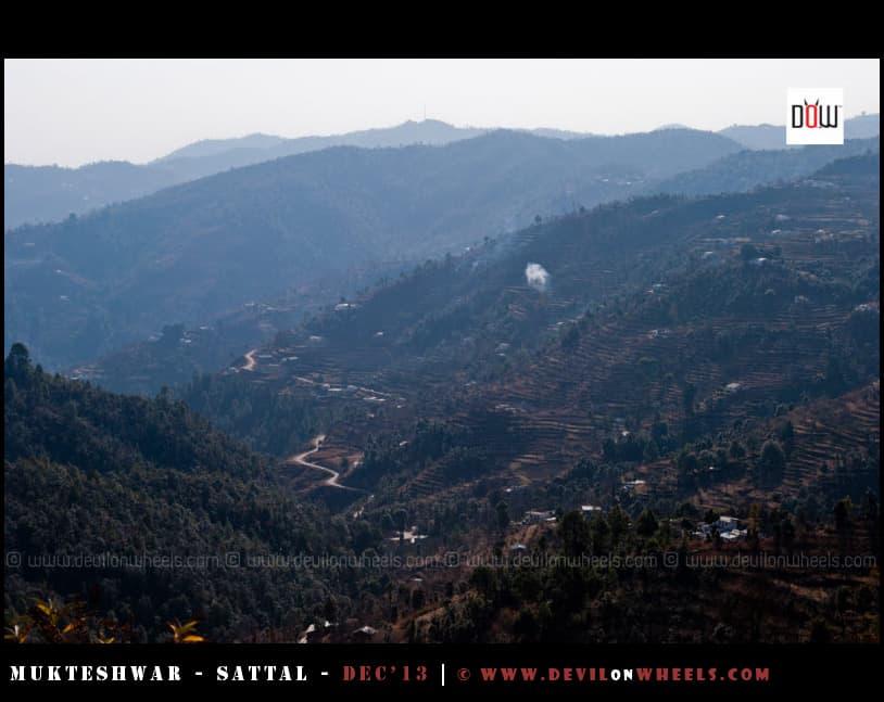View of the Valley from Oak Chalet Resort - Mukteshwar
