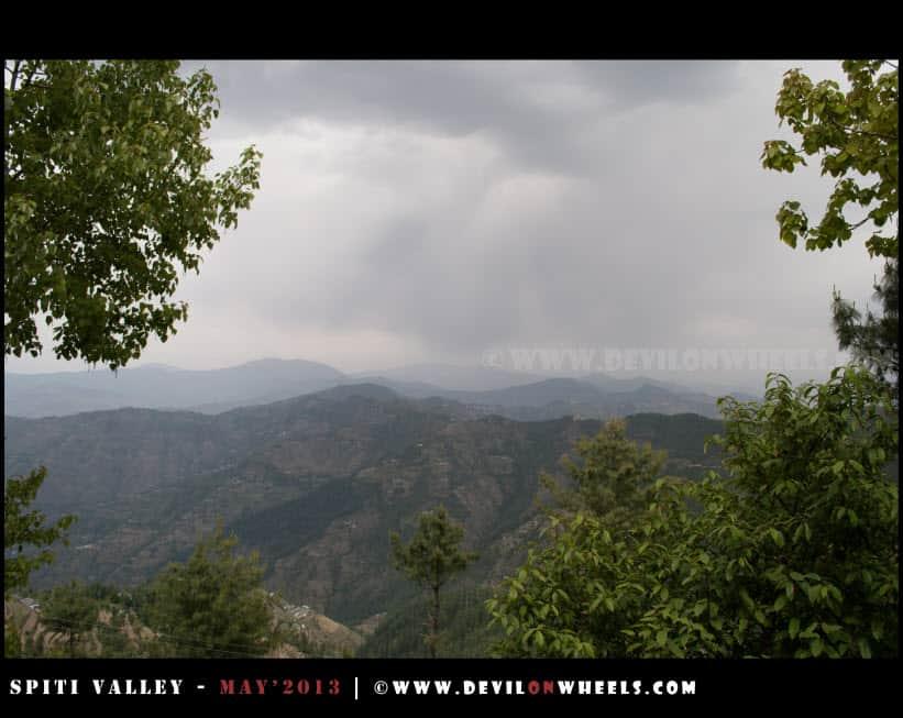 Weather turning dark near Shimla