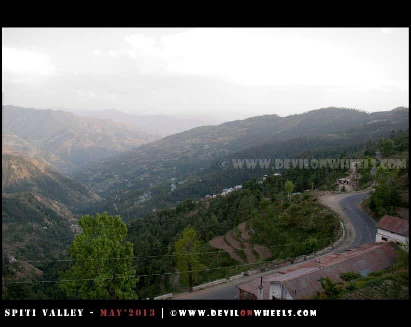 A wider view of Shimla - Narkanda - Kinnaur road from the room at Matiana near Narkanda