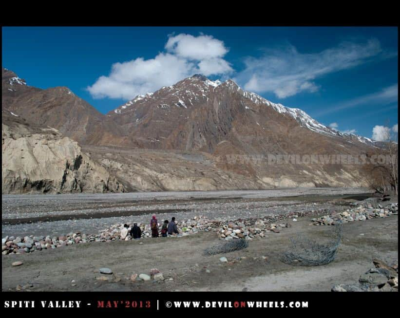 Local working near Spiti River