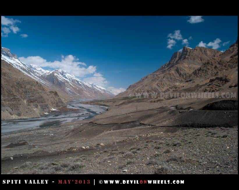 And the valley widens towards Kaza