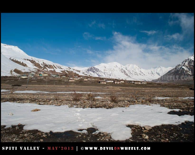 That is the picturesque Losar Village
