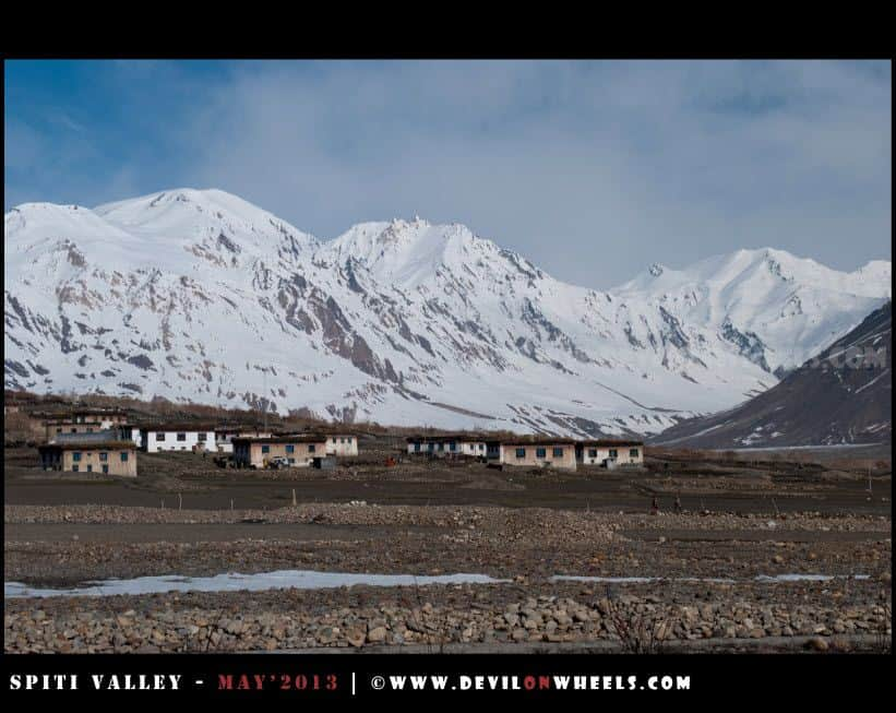 That is the picturesque Losar Village... A Closer View...