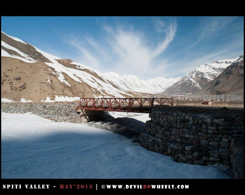 A beautiful view at Losar Village in Spiti Valley