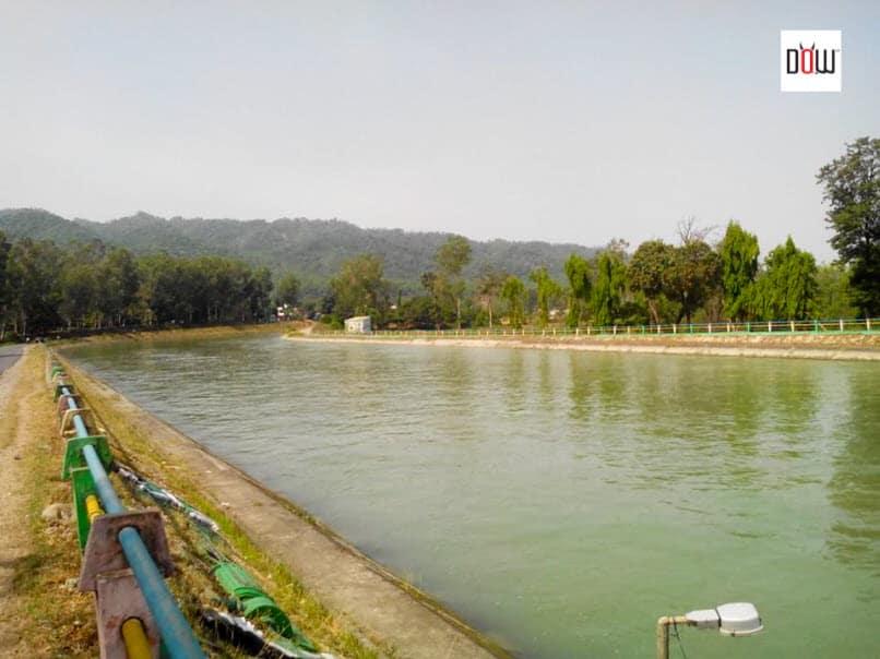 Yamuna River near Asan Barrage, Paonta Sahib