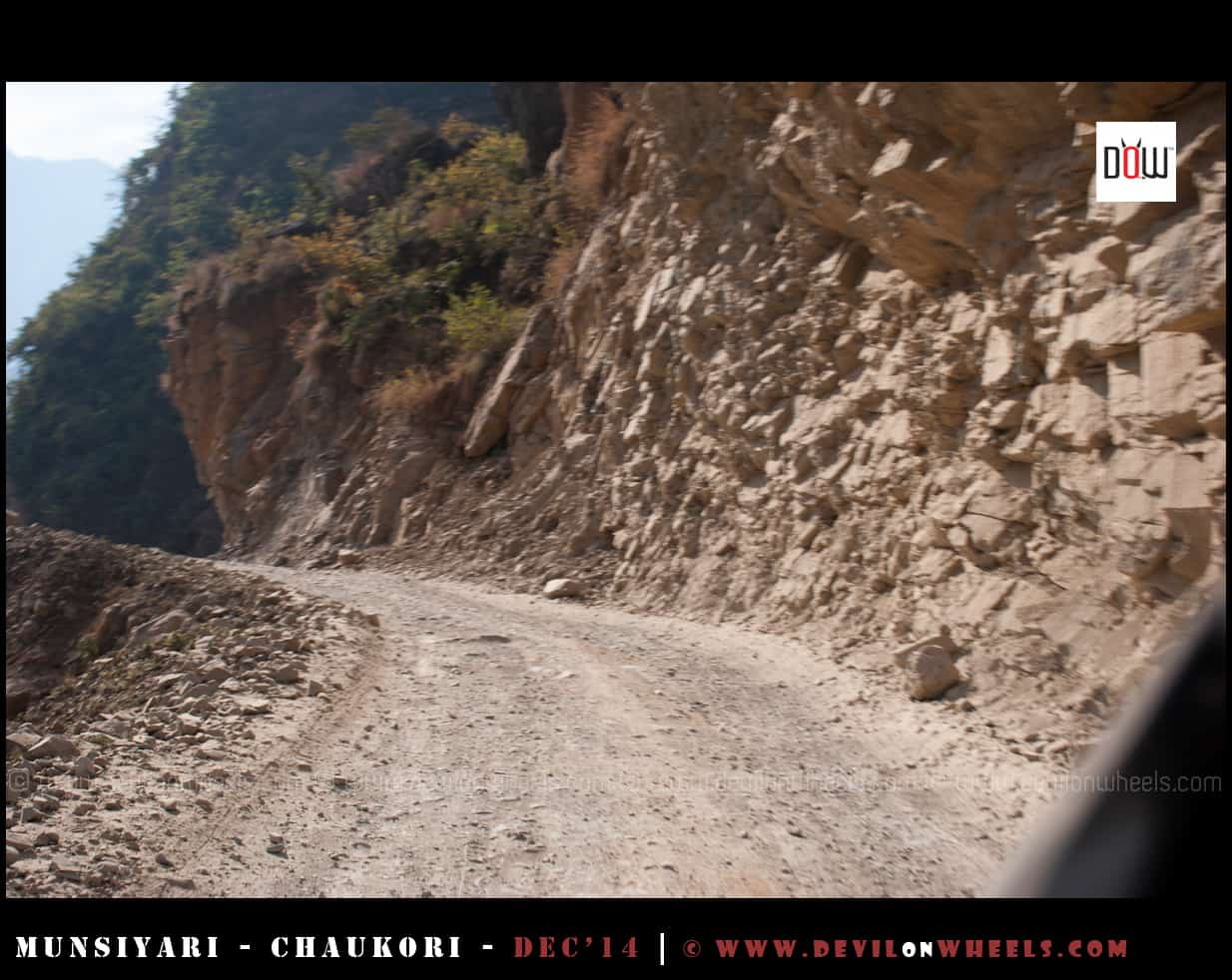 Road conditions between Jaulijibi - Dharchula