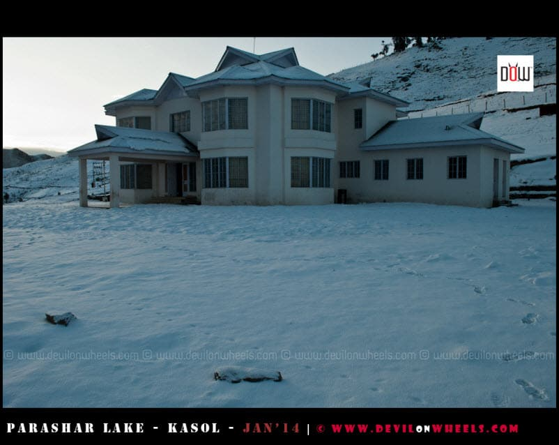 Surrounded with Snow - The PWD Rest House Prashar Lake