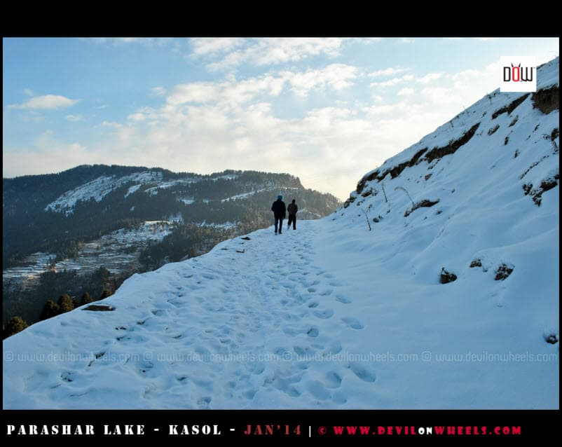 Walking the Deep Snow Path to Prashar Lake