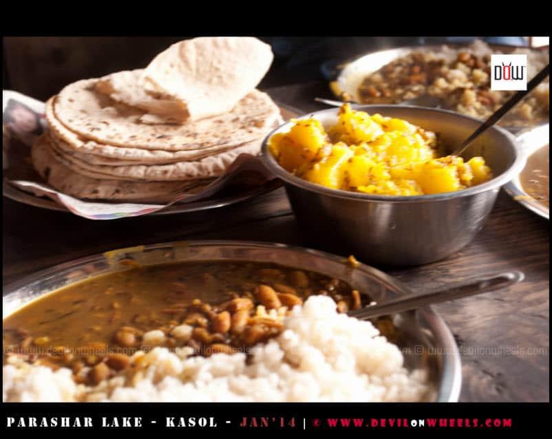 Tempting food at Dhabha