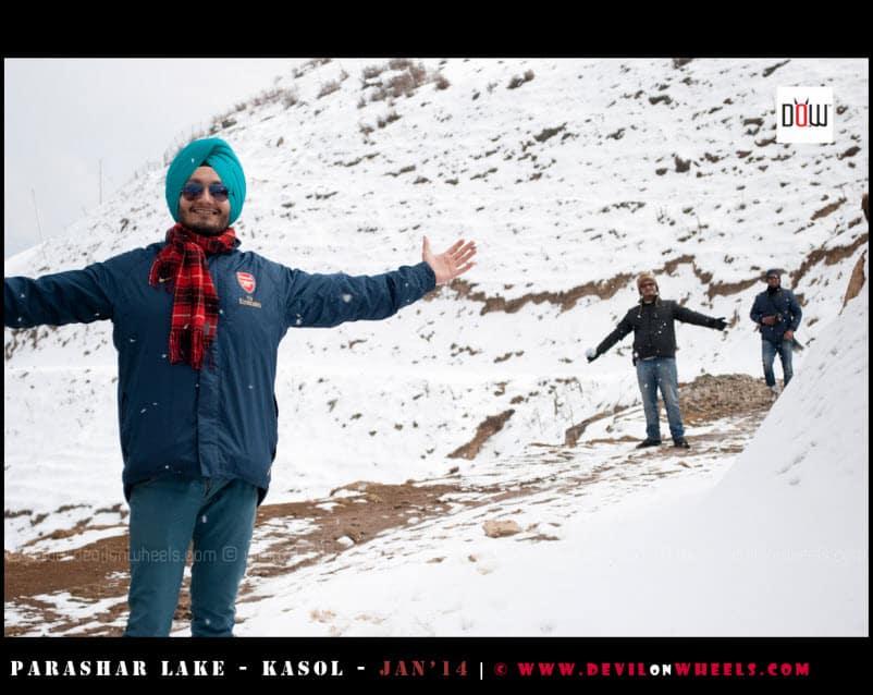 As we enjoyed snowfall near Prashar Lake