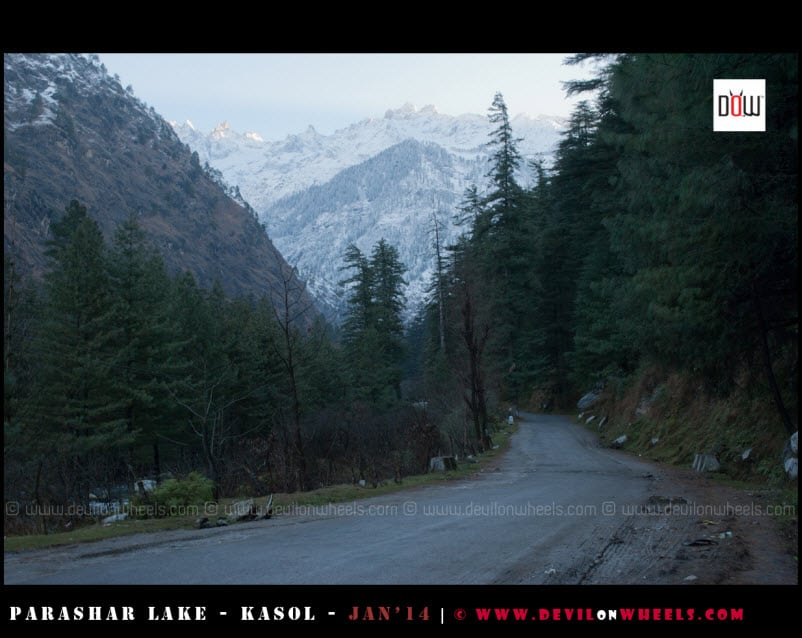 Road to Manikaran from Kasol