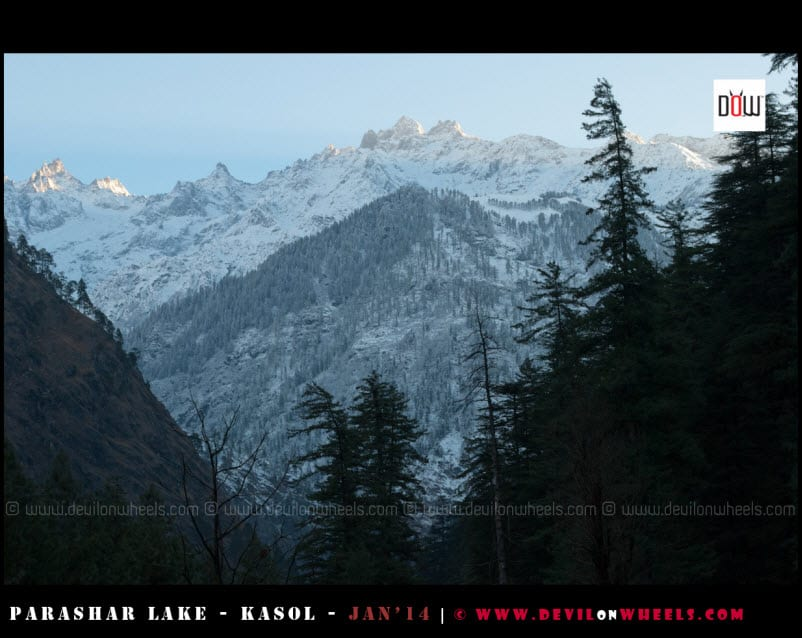 The First Rays at Parvati Range - Kasol