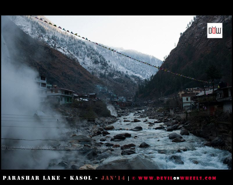 Smoke from Hot Springs at Manikaran