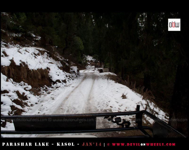 Bird's Eye view of Road to Prashar Lake from our Pickup