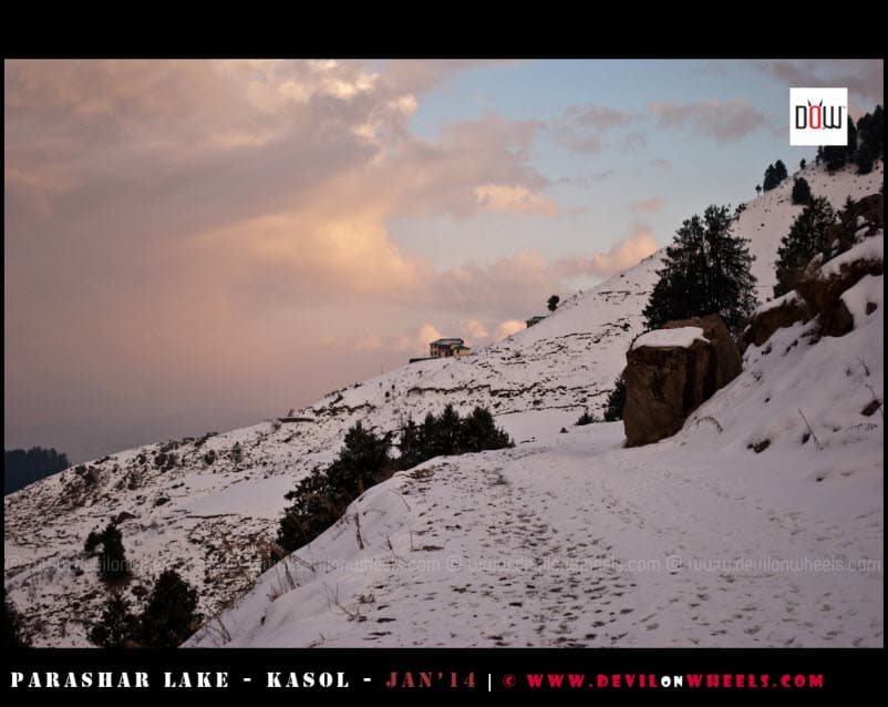 Getting nearer to the Abode at Prashar Lake
