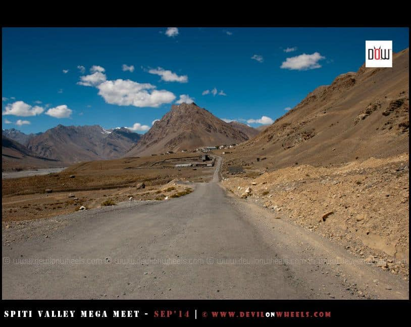 On the way from Kaza to Key Monastery