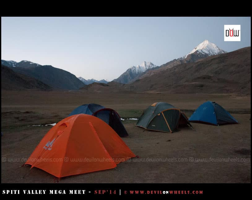 Camping site of Chandratal