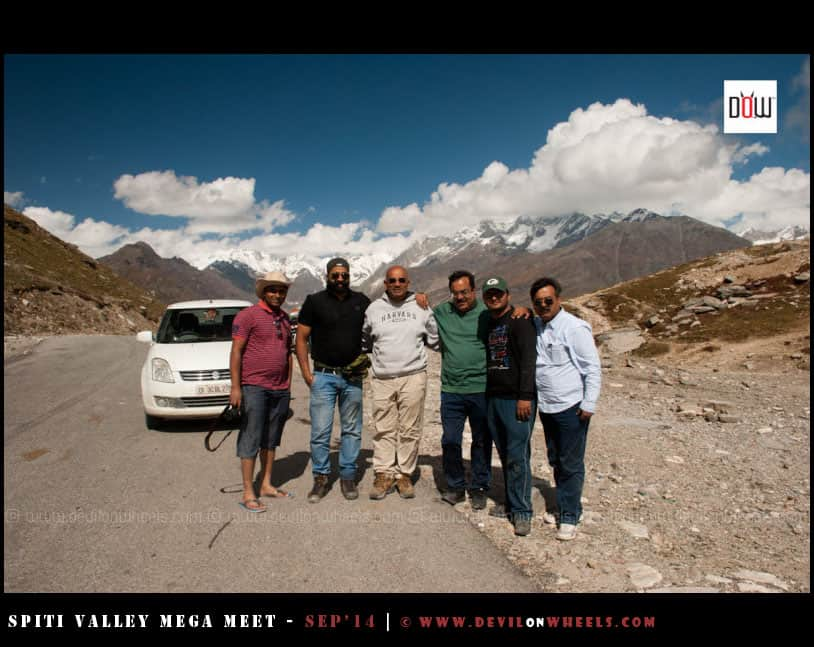 And we say good by to Tapan da and his friend at Rohtang Pass top