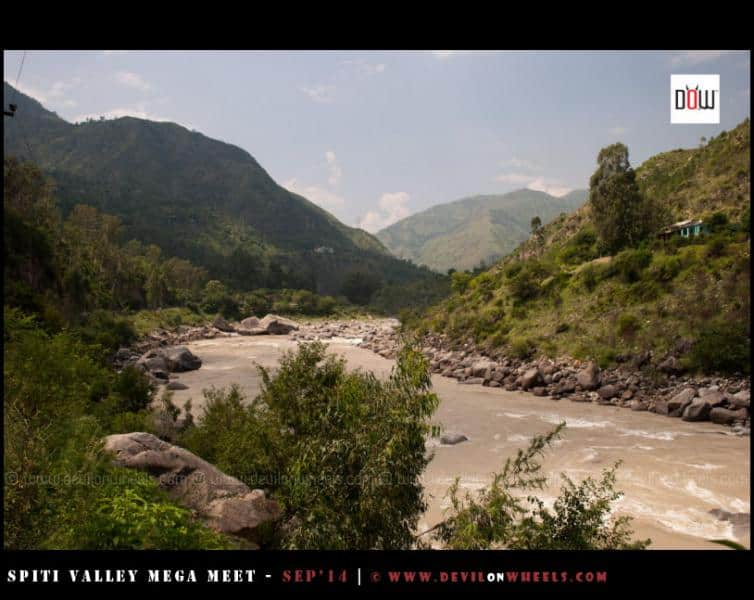 The Sutluj River flowing midst a beautiful setup near Rampur