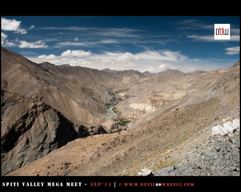The magical vistas towards Spiti Valley