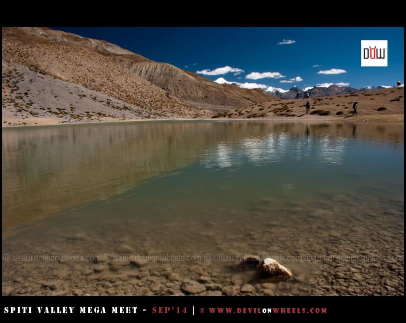 Dhankar Lake, reflecting colors of heaven