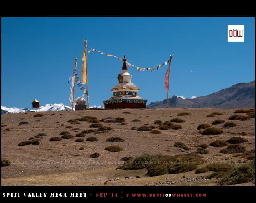 A Chorten at Dhangkar Lake
