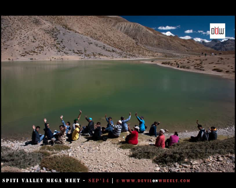 Yeah, that is one sense of achievement reaching Dhangkar Lake