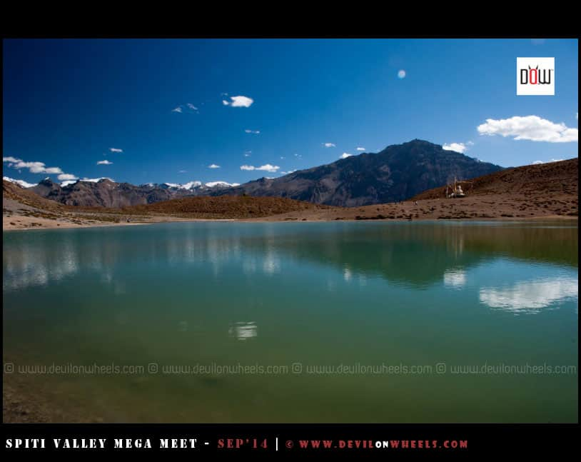 Dhangkar Lake, reflecting colors of heaven