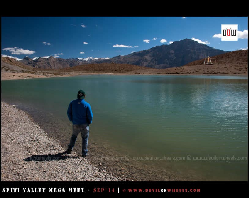 That's me, Lost in the solitude of Dhankar Lake