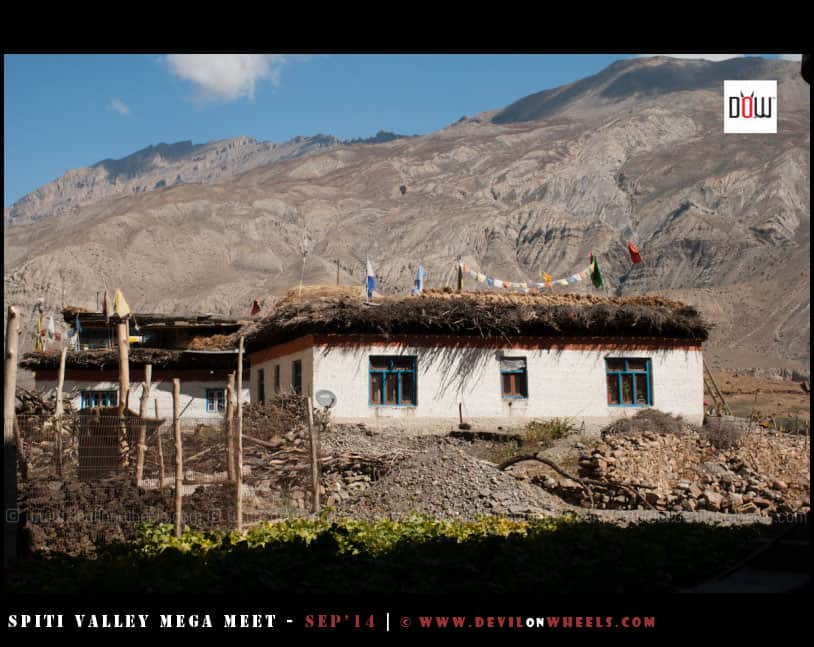 A local house in Mane Gongma Village, Spiti Valley