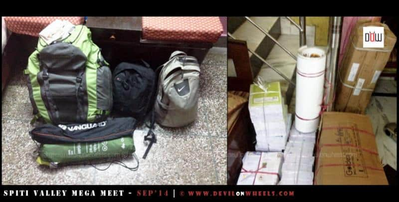 The packing for Mega Meet